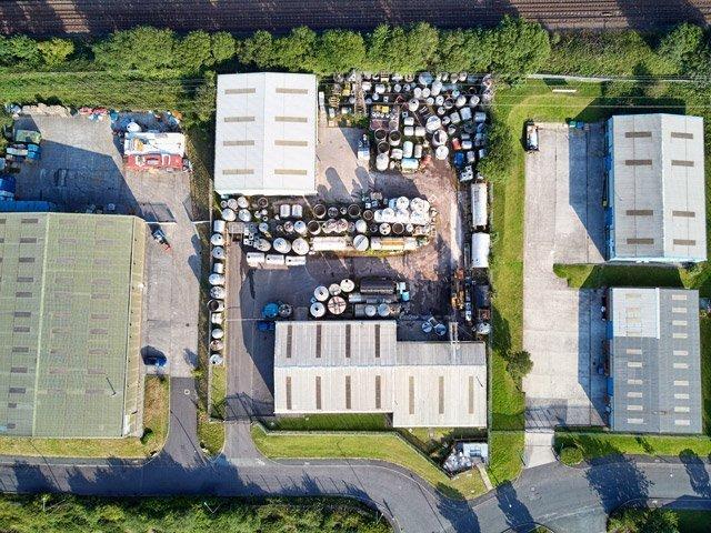 Green Plant Steel Drone Photo